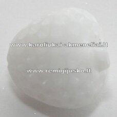 akr0029 about 17 x 15 mm, white color, acrylic pendant, 1 pc.