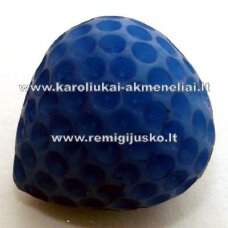 akr0031 about 14 x 12 mm, blue color, acrylic pendant, 1 pc.