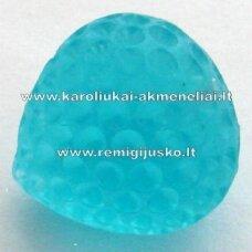 akr0032 about 15 x 13 mm, light blue color, acrylic pendant, 1 pc.