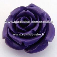 akr0040 about 14 x 9 mm, purple color, acrylic flower, 1 pc.