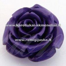 AKR0042 apie 17 x 10 mm, violetinė spalva, akrilinė gėlytė, 1 vnt.