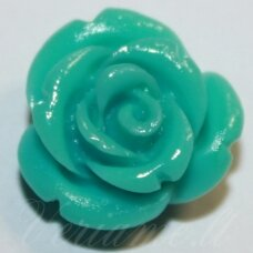 akr0052 about 17 x 10 mm, turquoise color, acrylic flower, 1 pc.