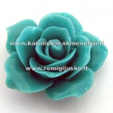 akr0061 about 25 x 13 mm, turquoise color, acrylic flower, 1 pc.