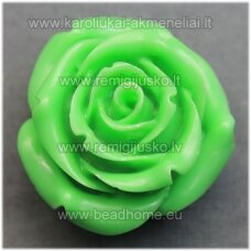akr0068 about 34 x 21 mm, light green color, acrylic flower, 1 pc.