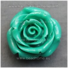 akr0069 about 34 x 21 mm, electric color, acrylic flower, 1 pc.