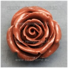 akr0072 about 34 x 21 mm, brown color, acrylic flower, 1 pc.