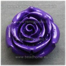 akr0076 about 34 x 21 mm, purple color, acrylic flower, 1 pc.