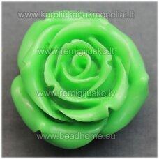 akr0083 apie 28 x 17 mm, salotinė spalva, akrilinė gėlytė, 1 vnt.