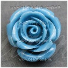 akr0087 apie 23 x 13 mm, melsva spalva, akrilinė gėlytė, 1 vnt.