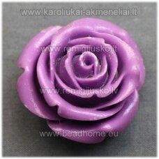 akr0092 apie 19 x 12 mm, alyvinė spalva, akrilinė gėlytė, 1 vnt.