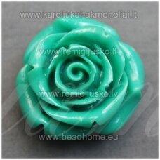 akr0099 apie 19 x 12 mm, elektrinė spalva, akrilinė gėlytė, 1 vnt.