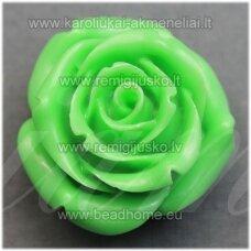 akr0100 apie 19 x 12 mm, salotinė spalva, akrilinė gėlytė, 1 vnt.
