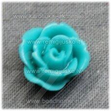 akr0124 apie 12 x 8 mm, elektrinė spalva, akrilinė gėlytė, 1 vnt.