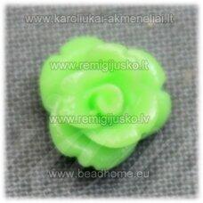 akr0132 apie 8 x 5 mm, salotinė spalva, akrilinė gėlytė, 1 vnt.