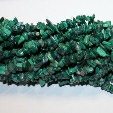 akskalkaml-11x15 apie 11 - 15 mm, malachitas, skalda, 80 cm.