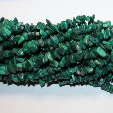 akskalkaml-4x8 about 4 - 8 mm, malachite, chip, 80 cm.