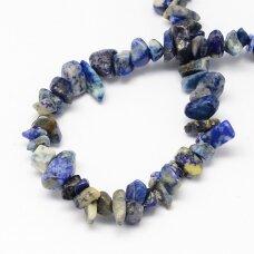 akskalkalaz-4x8 about 4 - 8 mm, lapis lazuli, chip, about 80 cm.