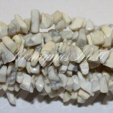 AKSKAL0146 apie 4-8 mm, balta spalva, hovlitas, skalda, 80 cm.