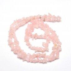 akskalkarz-04x8 about 4 - 8 mm, rose quartz, chip, 80 cm.