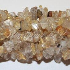 akskal0169 apie 4-8 mm, kvarcas, skalda, 80 cm.