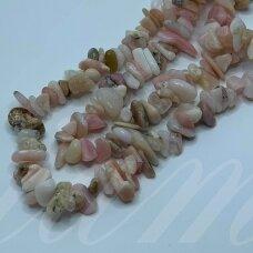 akskalrozop-4x8 apie 4-8 mm, rožinis opalas, skalda, apie 80 cm.