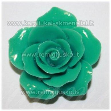 akr0006 apie 34 x 12 mm, turkio spalva, akrilinė gėlytė, 1 vnt.