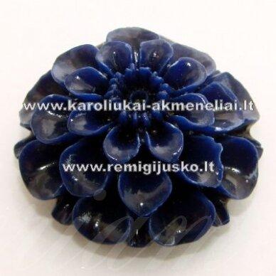 AKR0013 apie 24 x 12 mm, mėlyna spalva, akrilinė gėlytė, 1 vnt.
