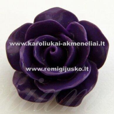AKR0017 apie 22 x 13 mm, violetinė spalva, akrilinė gėlytė, 1 vnt.