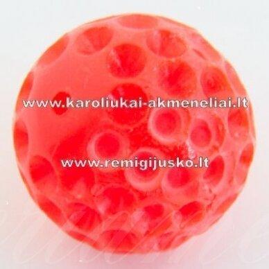akr0026 apie 16 mm, raudona spalva, akrilinis pakabukas, 1 vnt.