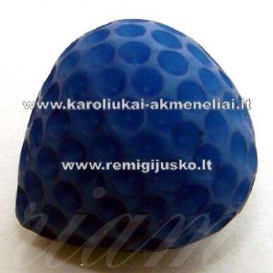 akr0031 apie 14 x 12 mm, mėlyna spalva, akrilinis pakabukas, 1 vnt.