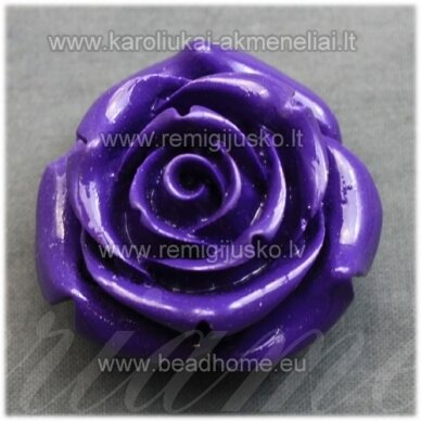akr0076 apie 34 x 21 mm, violetinė spalva, akrilinė gėlytė, 1 vnt.