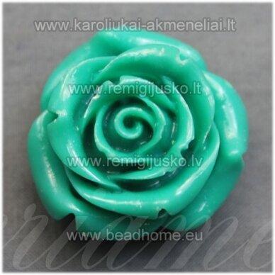 akr0082 apie 28 x 17 mm, elektrinė spalva, akrilinė gėlytė, 1 vnt.