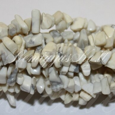 akskalkah-balt-4x8 apie 4-8 mm, balta spalva, hovlitas, skalda, 80 cm.