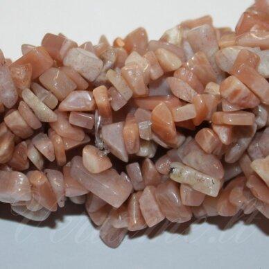 akskal0216-5x8 apie 5 - 8 mm, saulės akmuo, skalda, apie 80 cm.