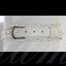 ap0001 about 22 cm ilgis, 7.5 mm width, white color, bracelet, 1 pc.