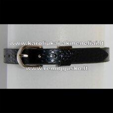 AP0002 apie 22 cm, ilgis 7.5 mm plotis, juoda spalva, apyrankė, 1 vnt.