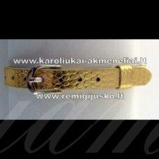 AP0005 apie 22 cm, ilgis 7.5 mm plotis, aukso spalva, apyrankė, 1 vnt.