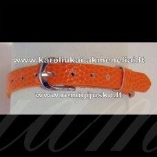 AP0007 apie 22 cm, ilgis 7.5 mm plotis, oranžinė apyrankė, 1 vnt.