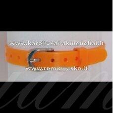 ap0021 about 21 cm ilgis, 7 mm width, orange color, bracelet, 1 pc.