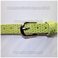ap0028 about 21 cm ilgis, 7 mm width, light green color, bracelet, 1 pc.