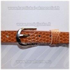 ap0031 about 21 cm ilgis, 7 mm width, light, brown color, bracelet, 1 pc.