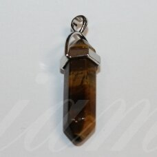 apa0018 about 40x14 about 40 x 14 mm, brown color, tiger eye, stone pendant, 1 pc.