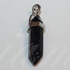 apa0022 about 40x14 about 40 x 14 mm, cairo night, stone pendant, 1 pc.