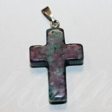 apa0059 about 25 x 18 x 6 mm, the cross shape, stone pendant, 1 pc.