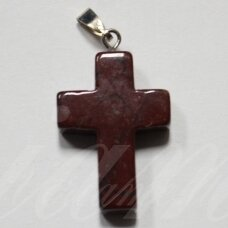 apa0070 about 25 x 18 x 6 mm, the cross shape, stone pendant, 1 pc.