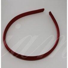 apie 14 mm pločio, plaukų lankelio pagrindas, bordo spalva, 1 vnt.