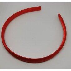 apie 14 mm pločio, plaukų lankelio pagrindas, raudona spalva, 1 vnt.