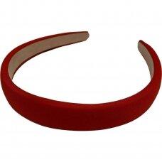 apie 20 mm pločio, plaukų lankelio pagrindas, raudona spalva, 1 vnt.