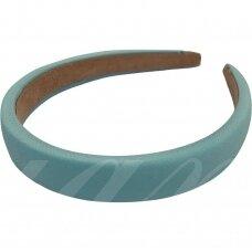 apie 20 mm pločio, plaukų lankelio pagrindas, šviesi, mėlyna spalva, 1 vnt.