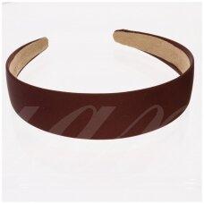 apie 28 mm pločio, plaukų lankelio pagrindas, ruda spalva, 1 vnt.